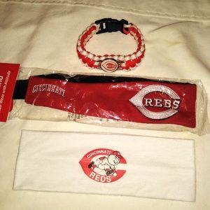 Cincinnati Reds Headband & Bracelet Pack